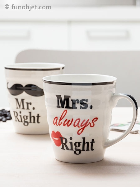 Mrs Always Right Collection Review: Duo De Mugs Monsieur Et Madame Right Avec FunObjet.com