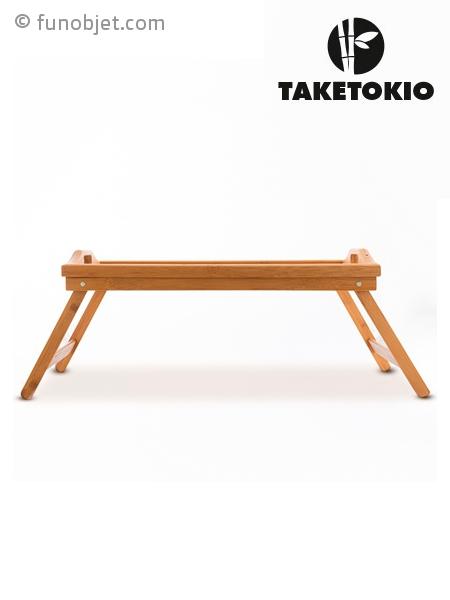 plateau de service en bambou pour petit d jeuner au lit. Black Bedroom Furniture Sets. Home Design Ideas