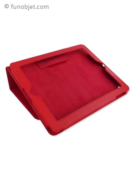 housse pour ipad rouge cuir avec. Black Bedroom Furniture Sets. Home Design Ideas