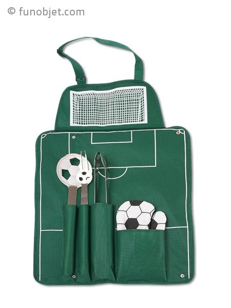 Tablier barbecue football et accessoires avec for Recherche jardinier pour entretien jardin
