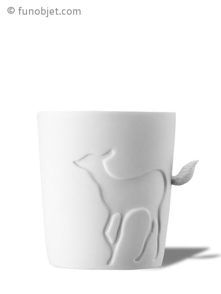 mug biche avec anse queue en 3d avec. Black Bedroom Furniture Sets. Home Design Ideas